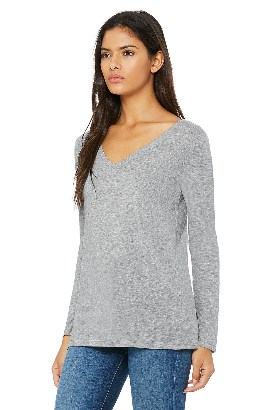 c6377704d6 Home   Pricing Product   8855 Women s Flowy Long Sleeve V-Neck